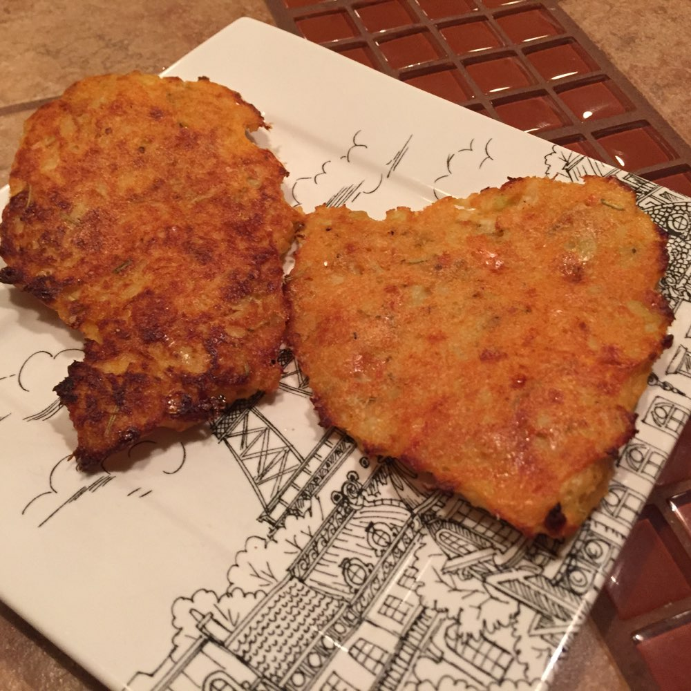 Cauliflower Fritters (eaten after eveything else)